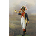 NF1087-01 Trumpet player Year 1810 Painted