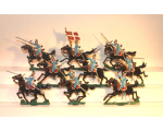 Zinnfiguren Mars 30mm - Box 002 - Danish Dragoon in Action 1890, Mounted x 9 - Painted