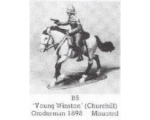B08 - Young Winston Churchill Omdurman 1898 - Unpainted