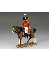 NA184 CG Mounted Officer King and Country