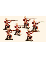 1101 Toy Soldiers Set 42nd Highlander Kneeling Firing Painted