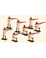 1106 Toy Soldiers Set The Indian Rebellion Standing and Kneeling Firing Painted