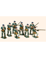 612 Toy Soldiers Set Rogers Rangers action Painted
