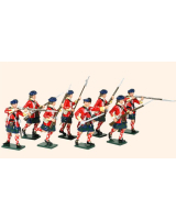 613 Toy Soldiers Set 42nd Highland Regiment of Foot Painted