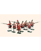 651 Toy Soldiers Set British Grenadiers Painted