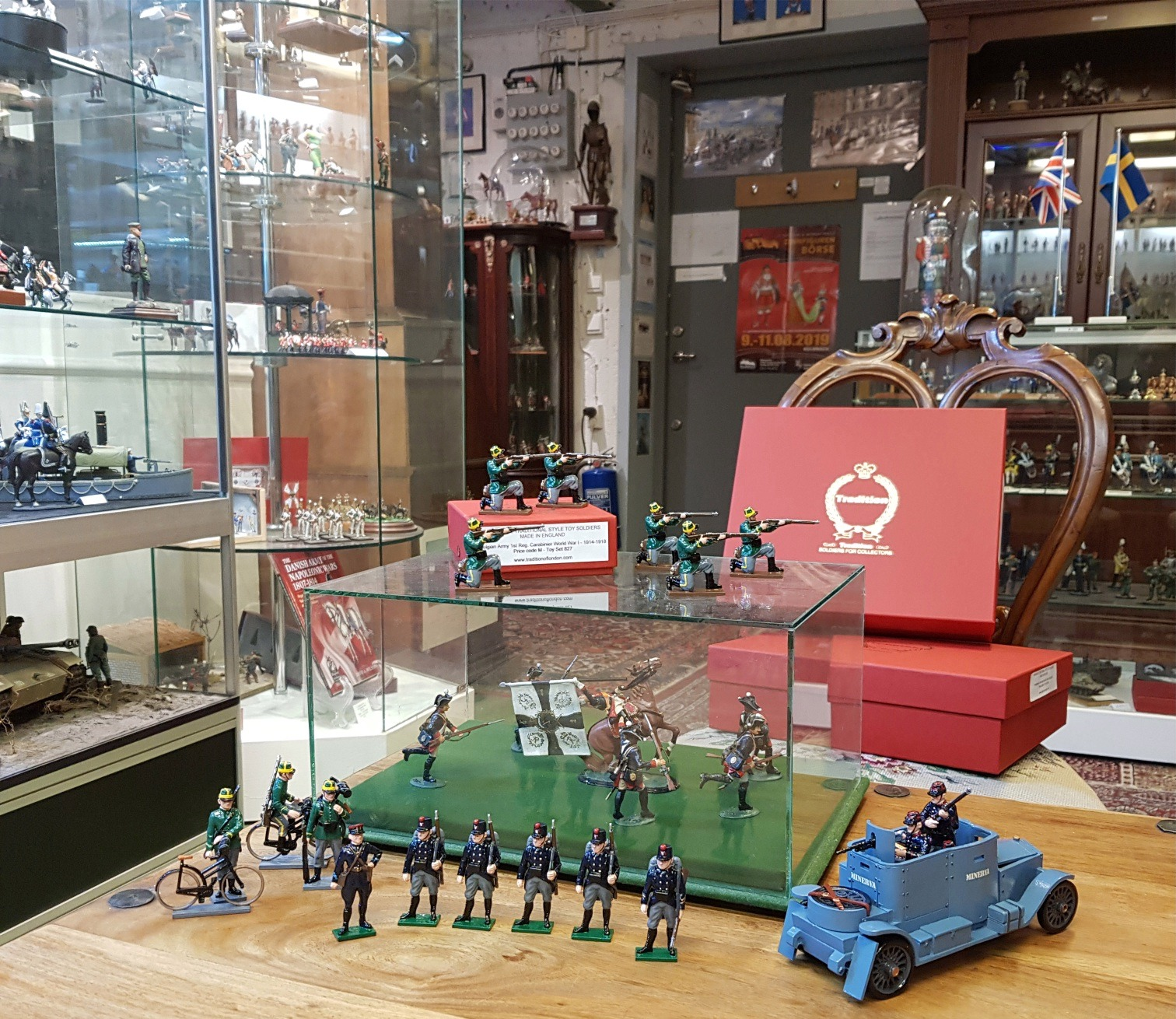 Toy Soldiers at Tradition of London Showroom
