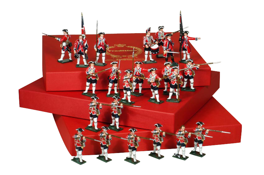 Toy Soldiers 54mm Painted in Gloss Seven Years war British