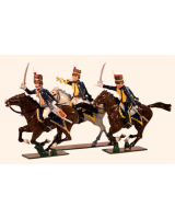 0760 Toy Soldiers Set British troops Napoleonic Wars 7th Queens Own Hussars Painted