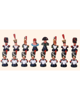Chess set The French armie 16 busts Painted