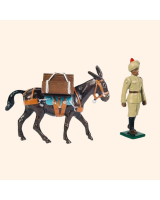 059 PM Toy Soldier Mule Handler with Pack mule Kit