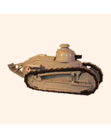 823 Toy Soldier Set Renault F17 Tank with Gun Painted