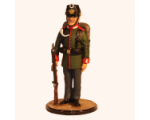Sqn80 027 Jäger at attention with ordered Arms Prussian Garde Jäger Regiment circa 1900 Kit