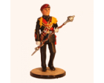Sqn80 029 Drum Major marching The Parachute Regiment 1984 Kit