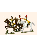 0713 Toy Soldiers Set French Line Dragoons Elite Company 1812 Painted