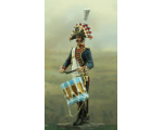 "NF1095-01 The ""Rolling Drum"" Musician Year 1810 Painted"