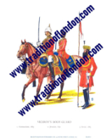 Plate No.008 Indian Army c. 1895, Viceroy´s Bodyguard