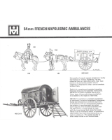 54mm French Napoleonic Larrey Light Ambulance with men and Horses - Unpainted