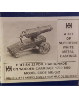 ME-G02 Model Soldier - British 32 pdr. Carronade wood carriage 1780-1860 - Unpainted