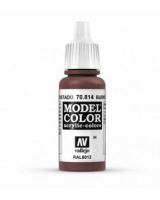 AV Vallejo Model Color VAL814 - Burnt Cadmium Red - Paint