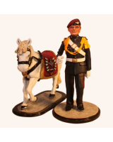 Sqn80 012 Pony Major with Mascot Parachute Regiment circa 1984 Painted