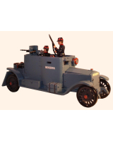 830 Toy Soldier Set The Minerva Armoured Car with three Crew assembled, unpainted