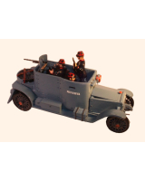 0830 Toy Soldier Set The Minerva Armoured Car with three Crew assembled, unpainted