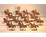 Zinnfiguren Mars 30mm - Box 001 - Danish Hussars in Parade 1890, Mounted x 14 - Painted