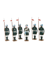0007b Toy Soldiers Set 17th Bengal Lancers 1901 Painted