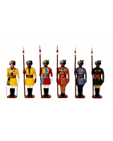 Trad 1 Toy Soldiers Set Types of the Indian Army Painted