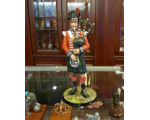 The Black Watch Piper Napoleonic circa 1815 - 230mm in size Painted