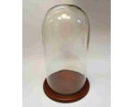 Glass Dome GD-A01 with Wooden base with filt under 35cm Tall 17,5cm Wide