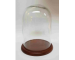 Glass Dome GD-A02 with Wooden base with filt under 25cm Tall 17,5cm Wide