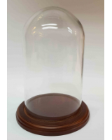 Glass Dome GD-A03 with Wooden base with filt under 19cm Tall 11,5cm Wide