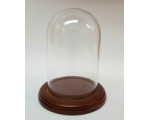 Glass Dome GD-A04 with Wooden base with filt under 14cm Tall 9,5cm Wide