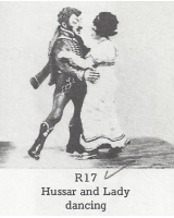 R17 - Hussar and Lady Dancing - Unpainted