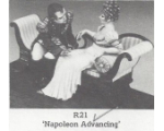 R21 - Napoleon advancing 2 Figures and Sofa - Unpainted