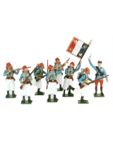 0807 Toy Soldiers Set French Tirailleur Algerian Turcos 1914 Painted
