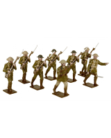 814 Toy Soldiers Set British Infantry 1916 Painted