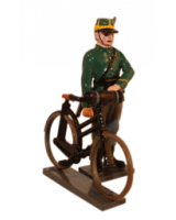829 Toy Soldier Set Infantry - Standing beside bike - 1st Carabinier Regiment Painted