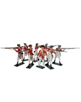 0203 Toy Soldiers Set British 10th Regiment Infantry Painted