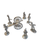 L03 Royal Horse Artillery Gun and Crew c.1815 - 30mm Willie Foot Kit