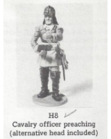 H008 - Cavalry Officer preaching - Unpainted