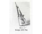 H011 - Ensign with Flag - Unpainted