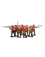 0600SE6 Toy Soldiers Set 51st Brudenells. Regiment of Foot c.1759 Minden Painted