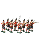 0615 Toy Soldiers Set Grenadier Company 42nd Highland Regiment of Foot Painted