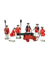 0617 Toy Soldiers Set French Colonial Artillery Painted