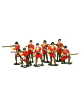 0619 Toy Soldiers Set British Light Infantry Painted