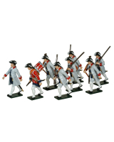 0623 Toy Soldiers Set French Infantry La Reine Regiment Painted