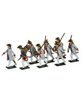 0624 Toy Soldiers Set French Infantry Guyenne Regiment Painted