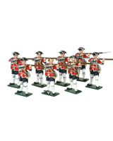 0655 Toy Soldiers Set British Infantry Eight Privates Firing Painted